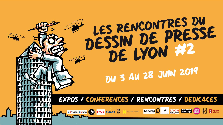 Visuel Rencontres du dessin de presse de Lyon