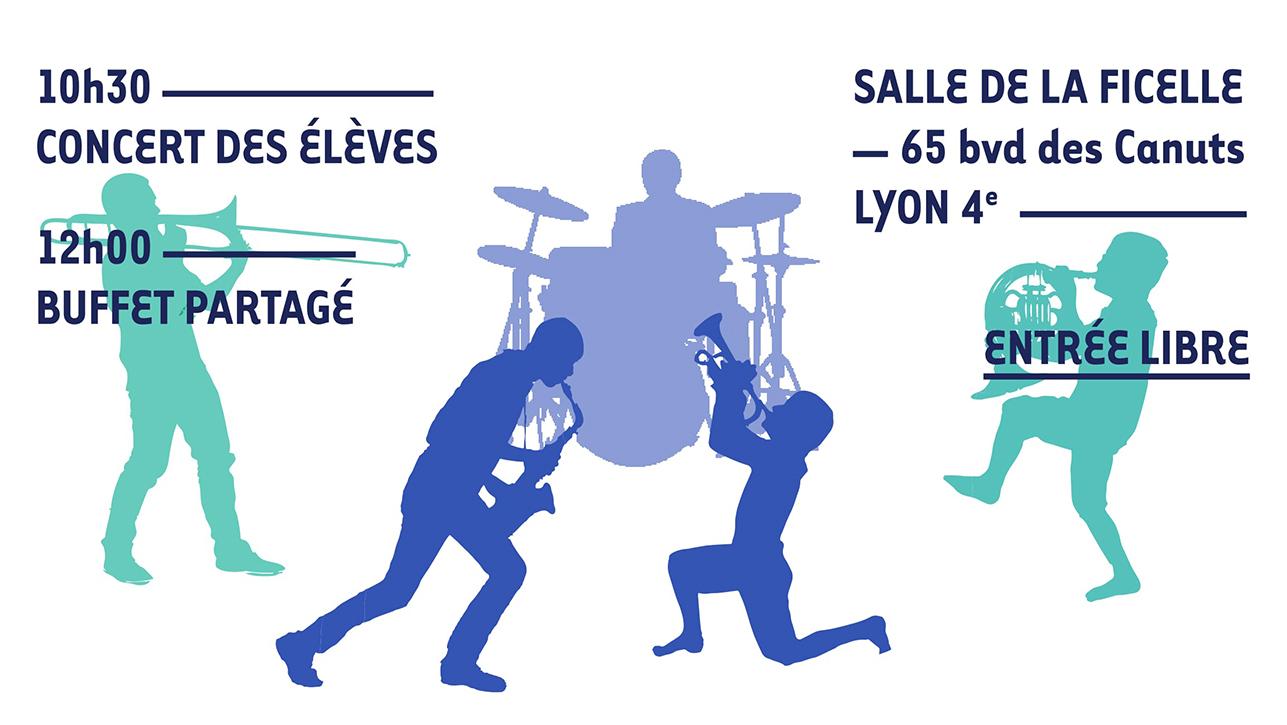 Ecole Paysagiste Lyon intérieur concert d'hiver de l'ecole lyonnaise des cuivres   lyon mairie du 4